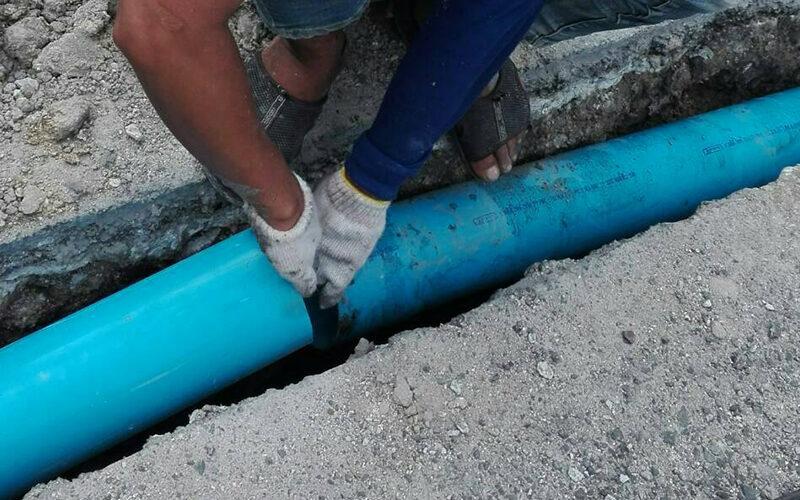 วางระบบท่อระบายน้ำบ้าน